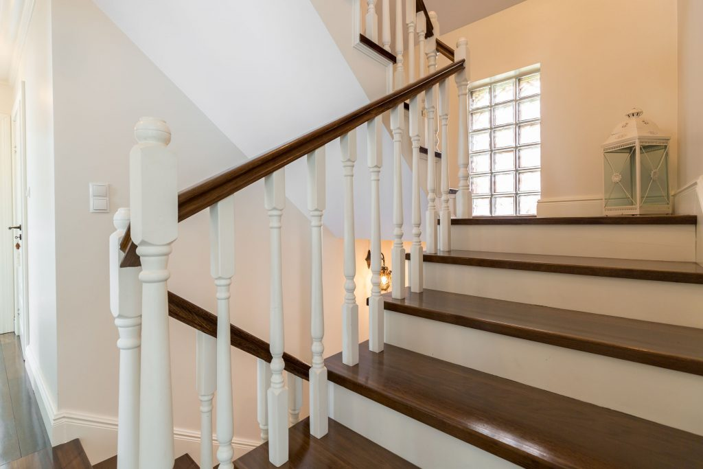 55291181-classic-wooden-stairs-in-stylish-storey-house
